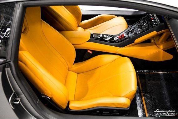 2016 lamborghini huracan lp610 4 yellow and black interior grey exterior