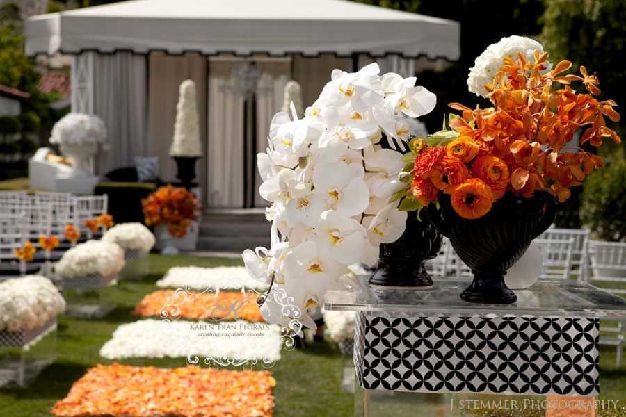 Viceroy Palm Springs Wedding Abstract And Modern Orange Black White