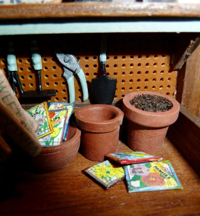 how to: potting bench accessories
