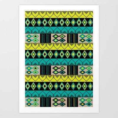 Tribal Art Print by Rita Sales Luis - $15.00