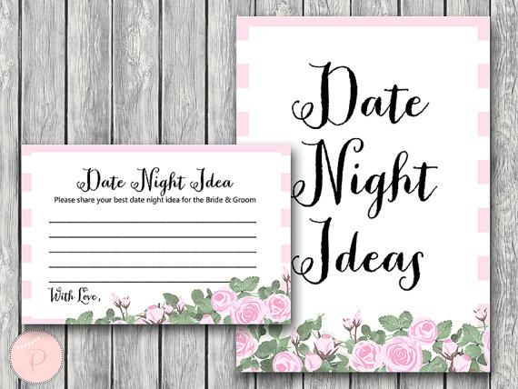 Date Night Ideas Date Night Cards Date Night Sign by BrideandBows http://www.birthdaypartyideas4u.com/