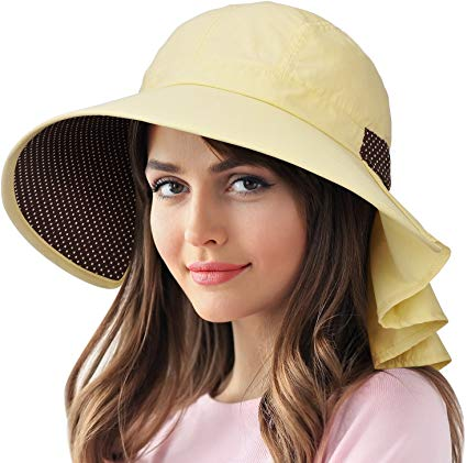 Amazon Com Catalonia Women S Wide Brim Sun Protection Hats With Flap Neck Cover For Traveling Hiking Safari Bo Sun Protection Hat Hiking Women Hats For Women
