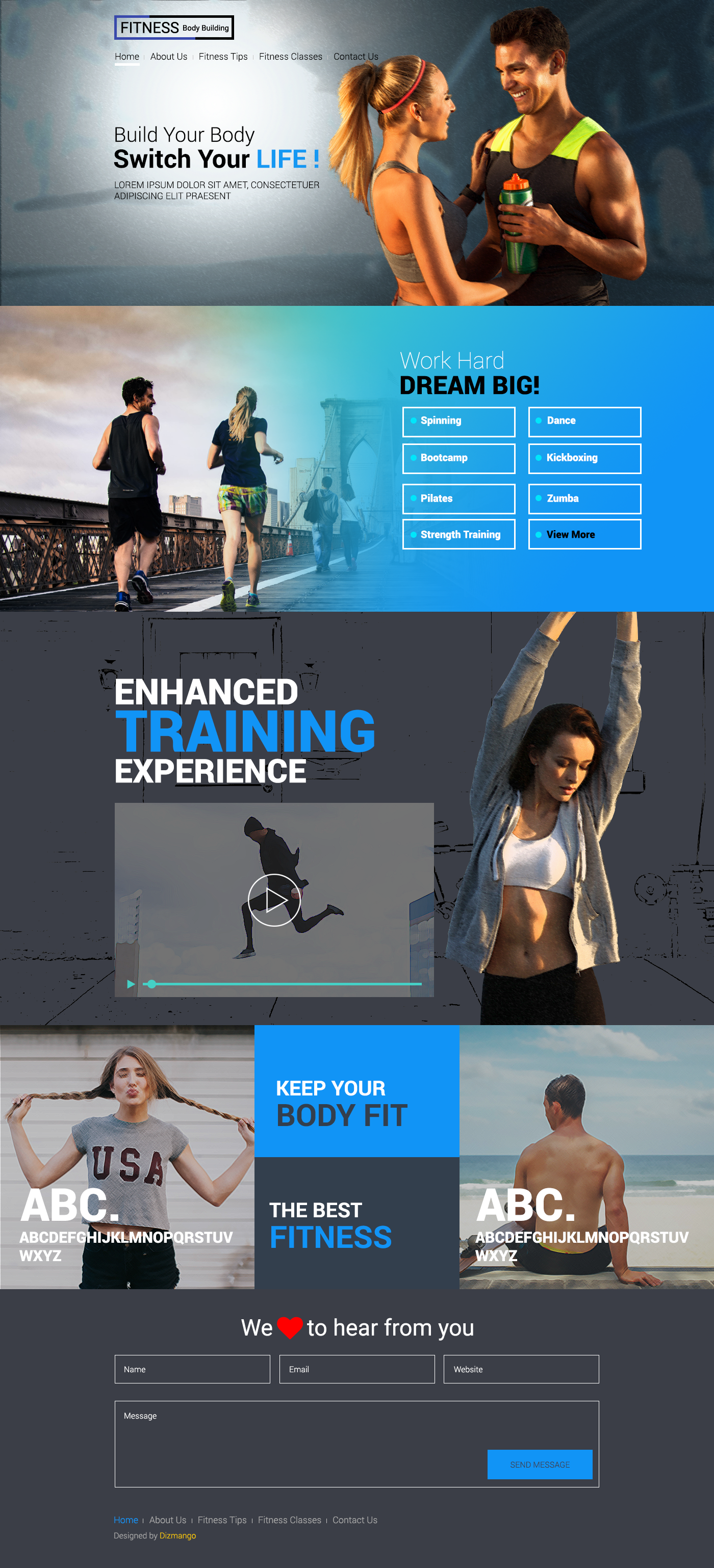 Fitness Is A Landing Web Page Designed For Fitness Center Health Products Fitness Is A Landing Web Page Desig Free Website Templates Website Template Design