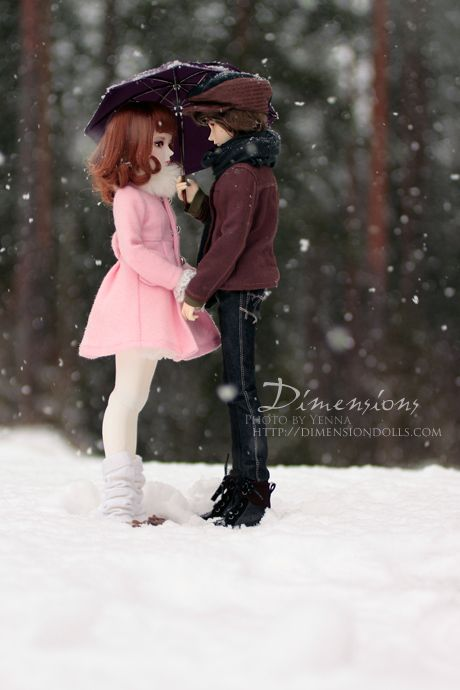 Couples: A Date in the Snow [Withdoll Cathy  Taren] A photo from DOA, such a sweet photoshoot!