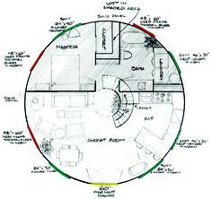 Yurt floor plan the master would be Tks and a 5 yurt can be