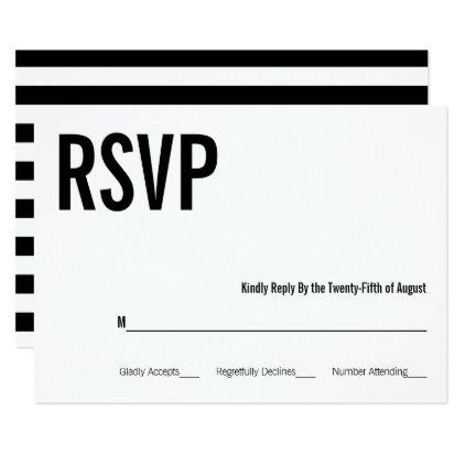 simple minimal typography wedding rsvp card wedding rsvp rsvp