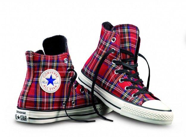 Converse All Star Hi Textile - Zapatillas, color green tartan, talla 36.5