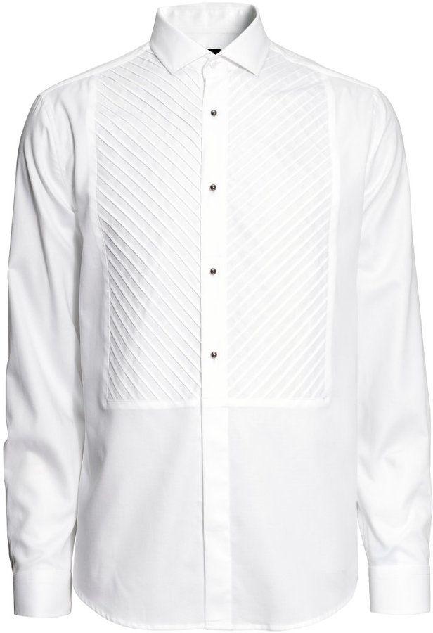 H&M - H&M - Tuxedo Shirt - White - Men | Tuxedo shirts, Shirts, Mens shirts