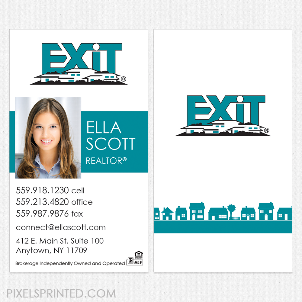 Exit Business Cards Business Cards Exit Cards Realtor Business