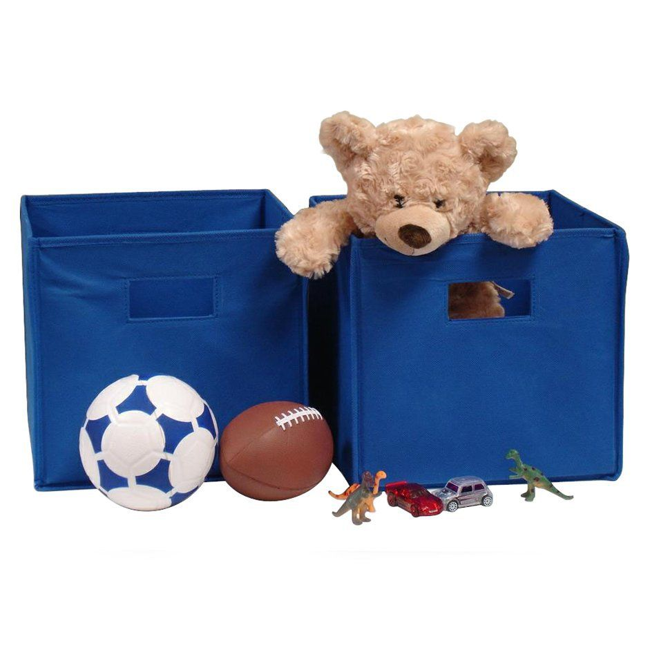 RiverRidge Kids 2 Pc Storage Bins   Dark Blue