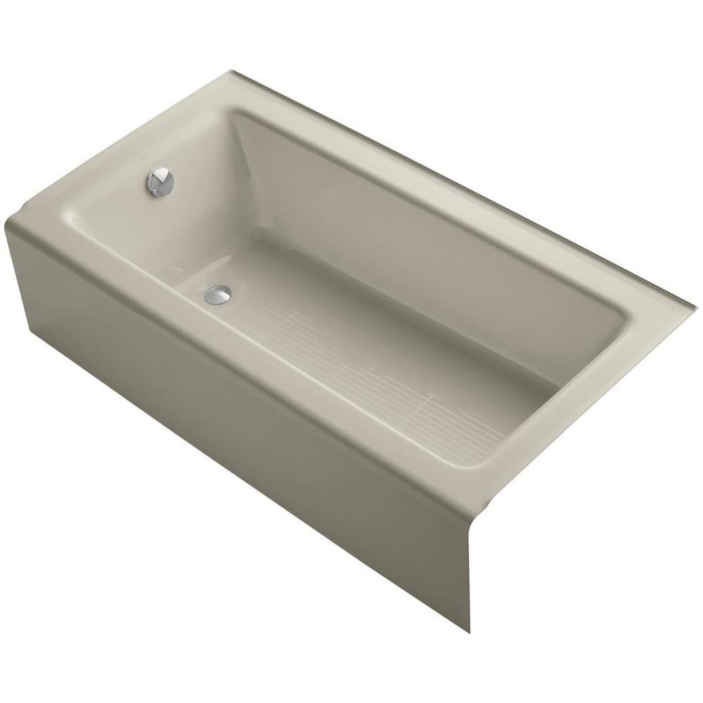 Kohler Bellwether 5 Ft Rectangle Left Drain Soaking Tub In