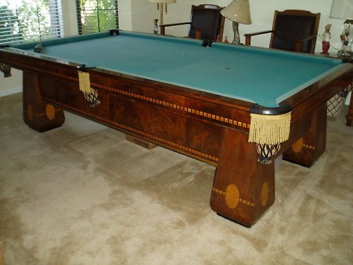 1926 Brunswick Balke Collender Antique Pool Table 4 1/2u0027 X 9u0027 | Pool Table,  Tables And House