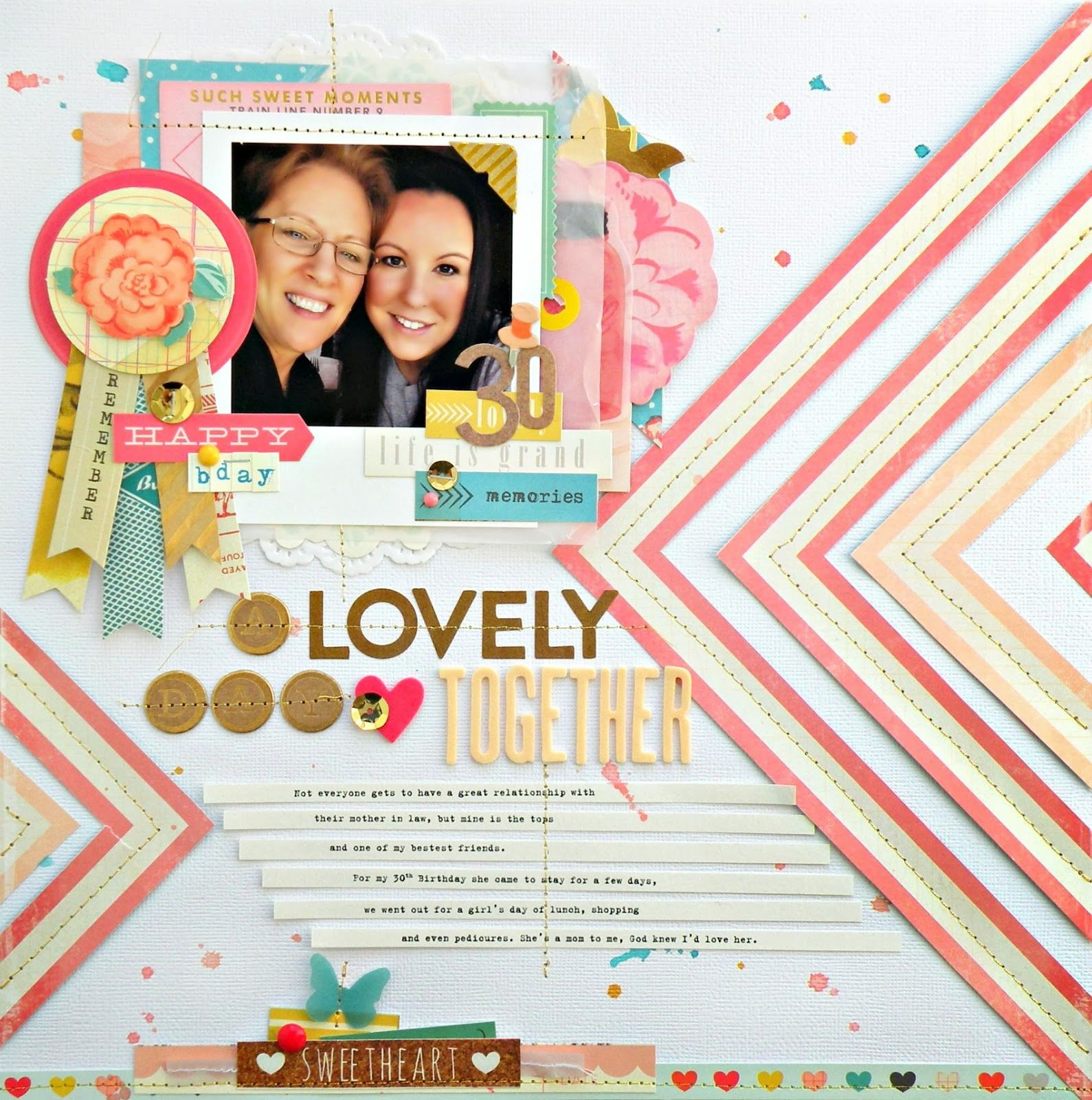 My Bits of Sunshine: A Crate Paper Layout- A Lovely Day Together
