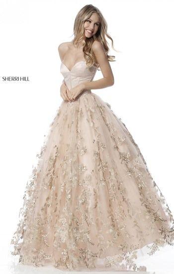 Gold Designer Prom Dresses 2018
