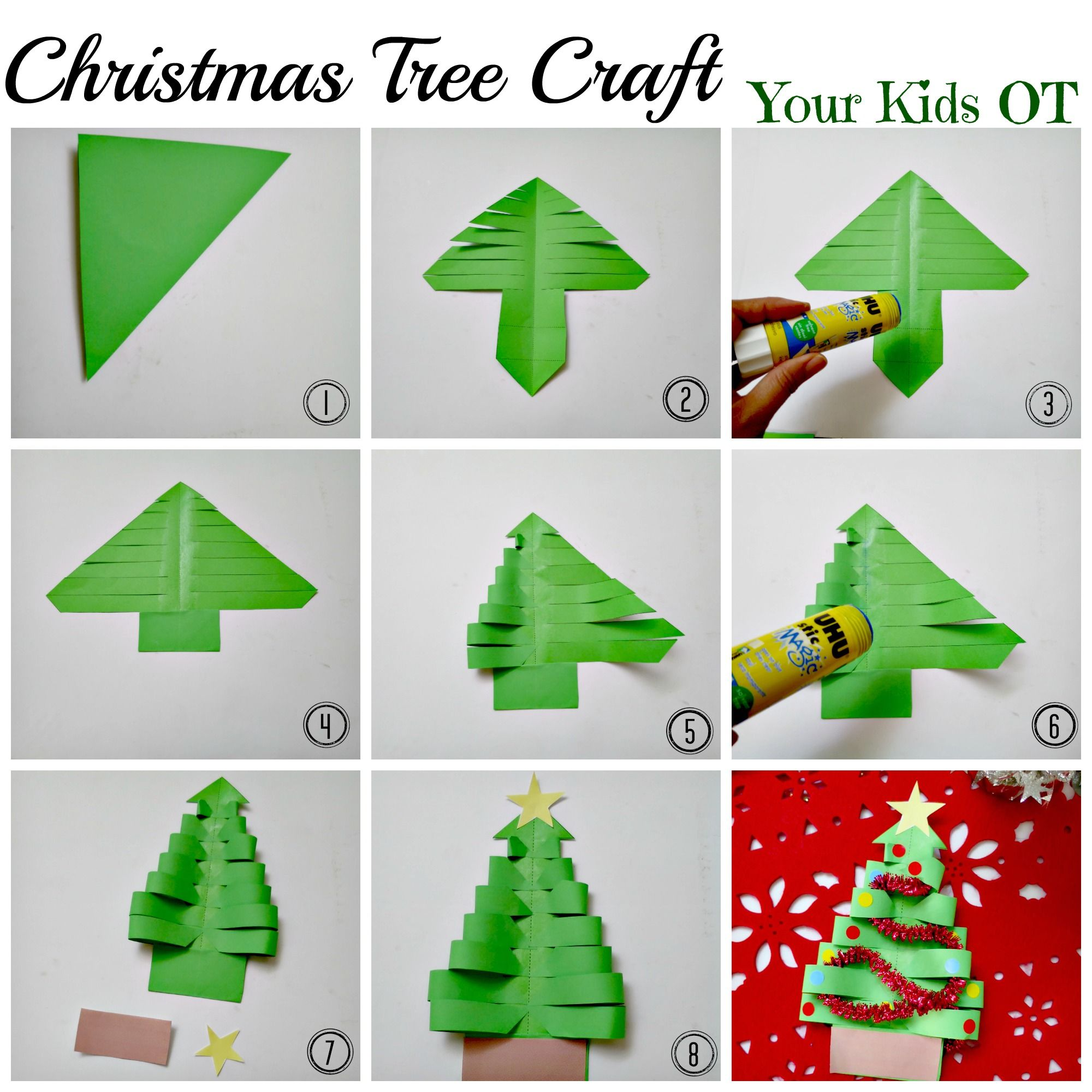 Adorable Easy Christmas Tree Craft Your Kids Ot Work