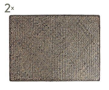 Set de 2 manteles individuales Vietnam, negro - 35x50 cm