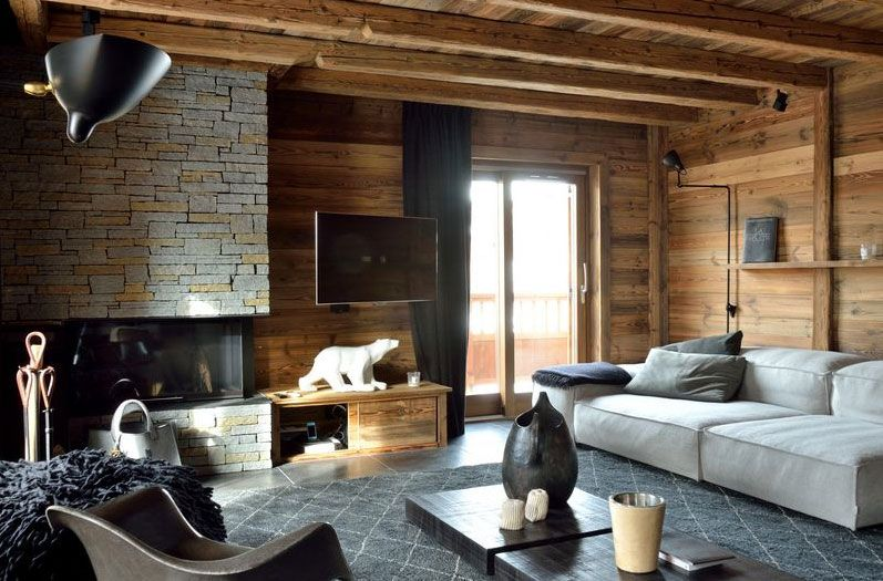 deco int rieur chalet moderne id es pour la maison pinterest chalet id es pour la maison. Black Bedroom Furniture Sets. Home Design Ideas