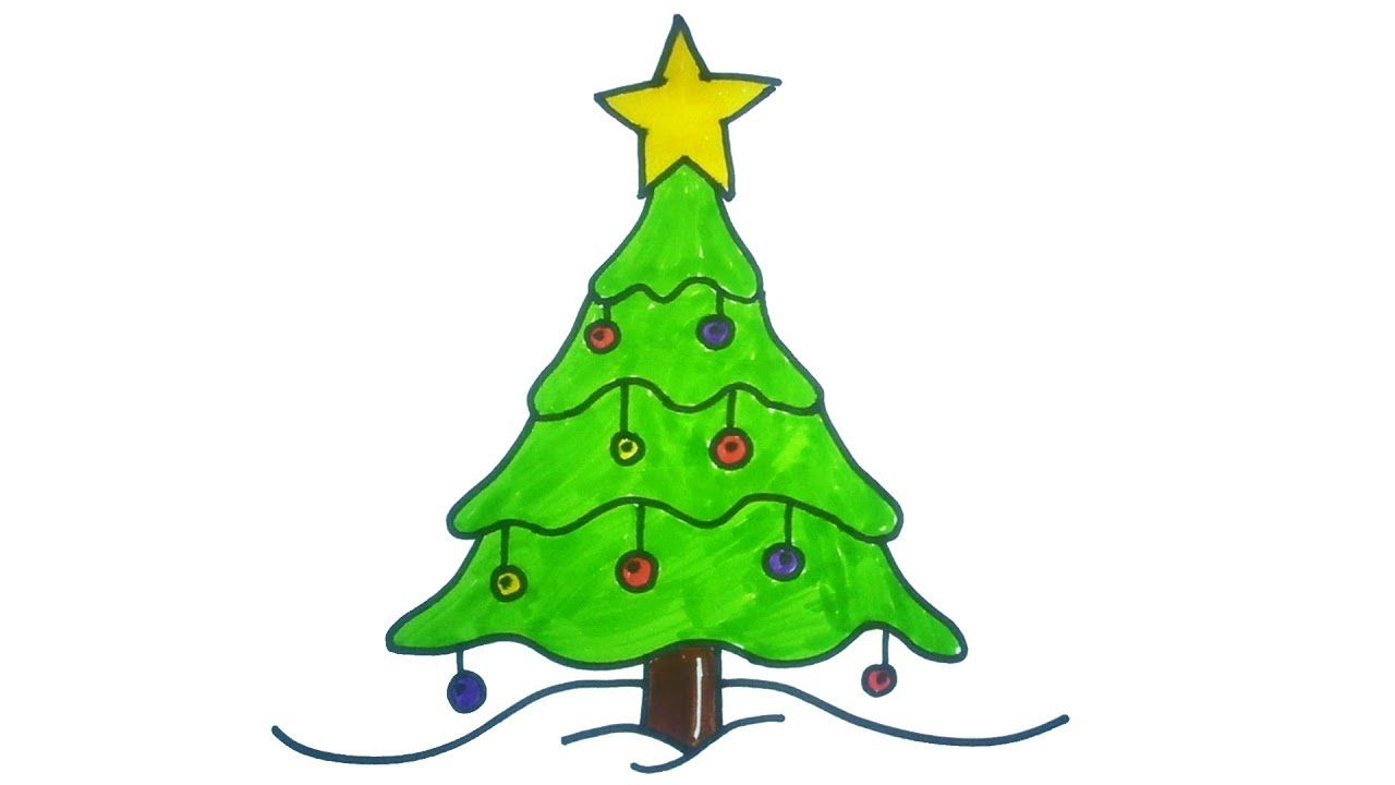 15 Diy Christmas Tree Drawings To Do With The Kids Christmas Tree Drawing Diy Christmas Tree Simple Christmas Tree