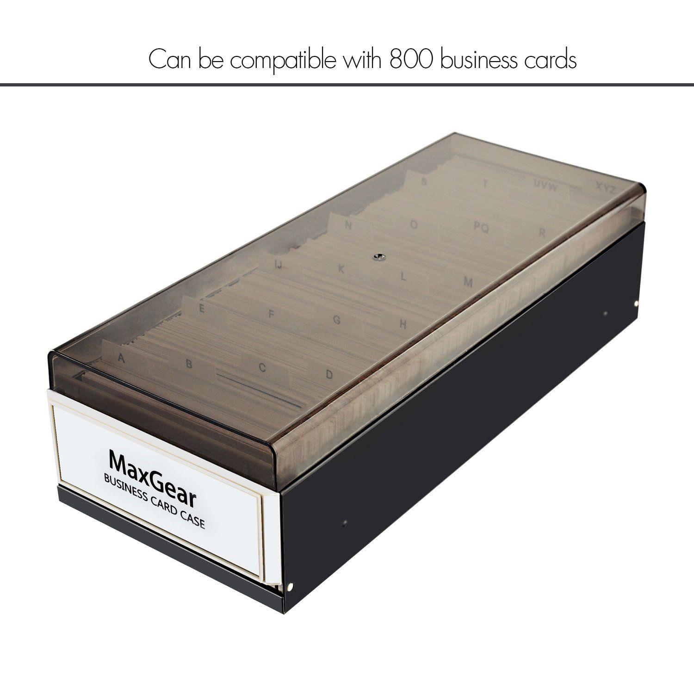 Maxgear Business Card Organizer Business Card File Name Card Case Holder Card Storage Box Organizer O Business Card Organizer Business Card Case Card Organizer