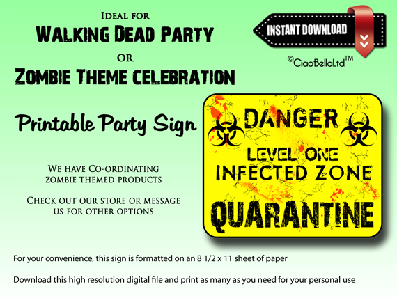 graphic about Quarantine Signs Printable referred to as Print your private Going for walks Lifeless get together signal. This rectangle indication