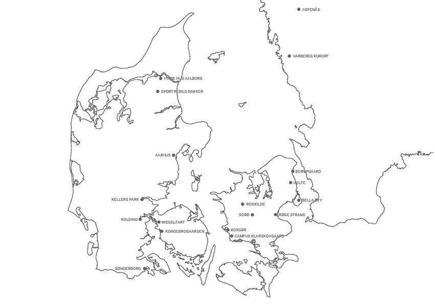 Kort Over Comwells Hoteller 16 I Danmark Og 2 I Sverige