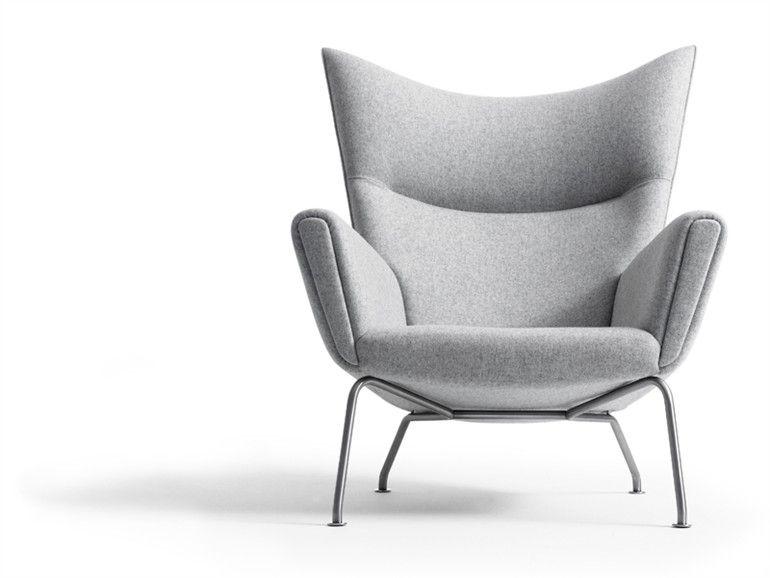 Gepolsterter Sessel mit Armlehnen CH445 by Carl Hansen & Søn | Design Hans J. Wegner