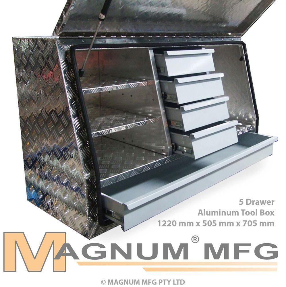 1220x505x705mm Heavy Duty Aluminium Toolbox Ute Truck Tool Truck Tool Box Truck Tools Tool Box Storage