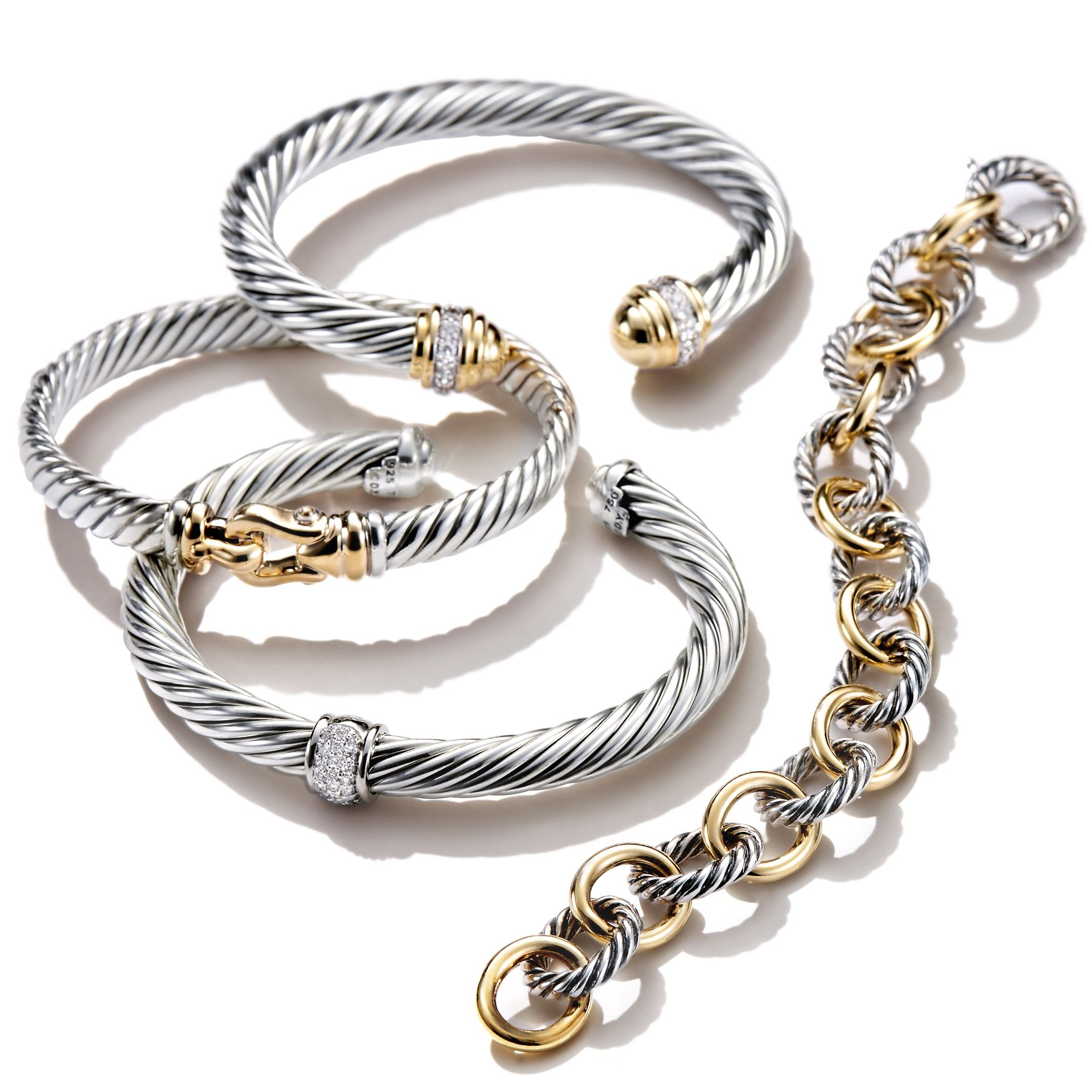 David Yurman Bracelets Are Designed To Layer And Stack Together Beautifully