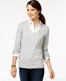 collared shirt v neck sweater