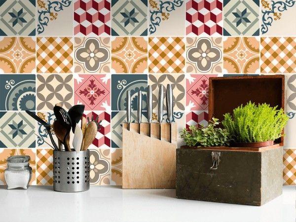 le carrelage adh sif carreaux de ciment un relooking facile pas cher diy astuces d co. Black Bedroom Furniture Sets. Home Design Ideas
