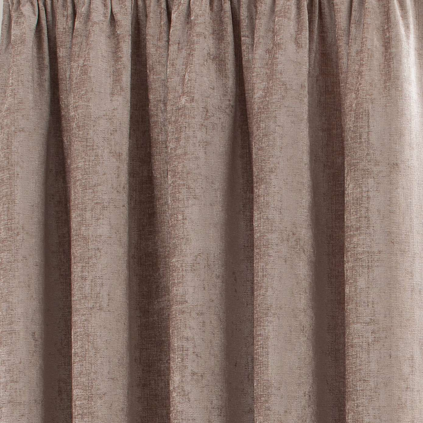 Chenille Taupe Pencil Pleat Curtains Pleated Curtains