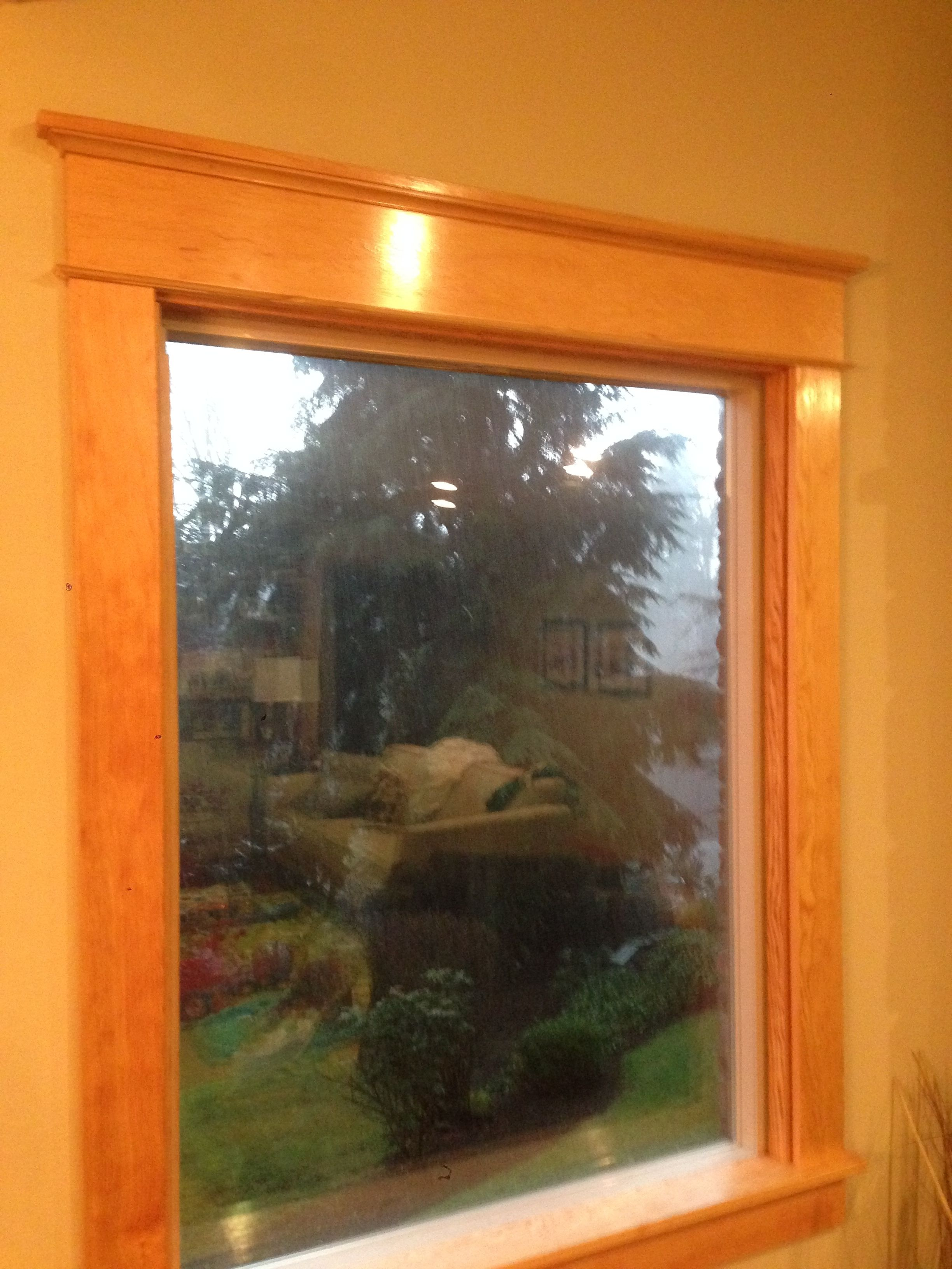 Craftsman Window Trim Made From Common Douglas Fir Boards