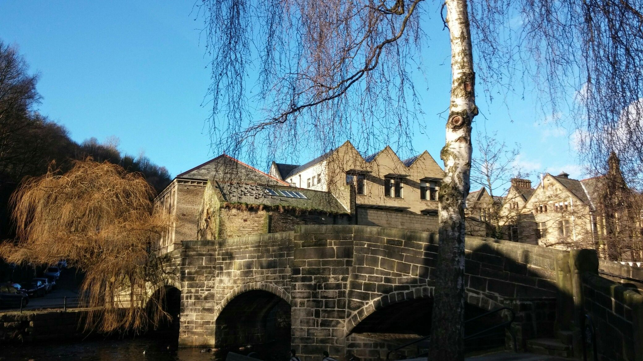 The Packhorse Bridge in the middle of winter