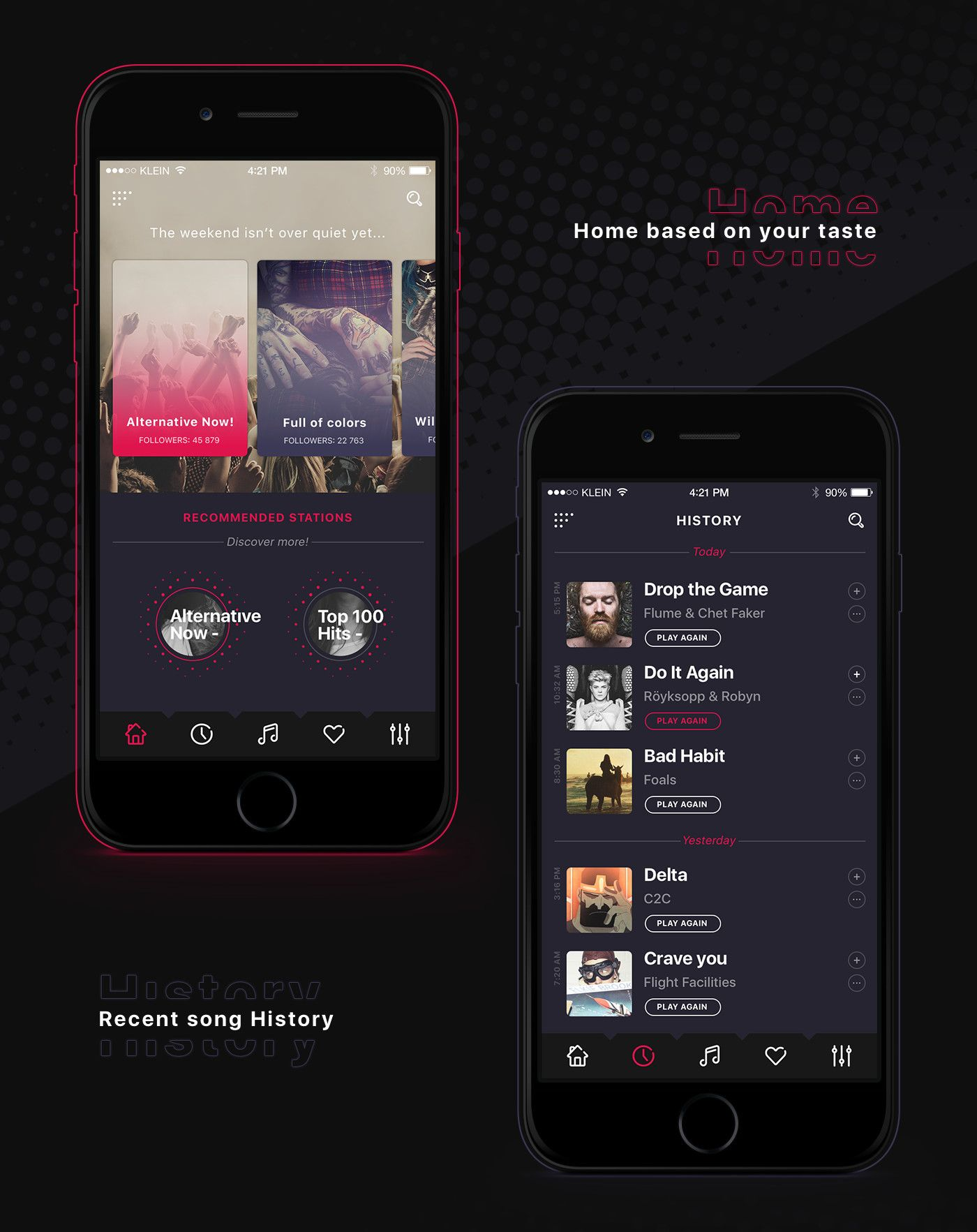 Alt Radio app on Behance | APP界面 | Mobile app ui, Free internet