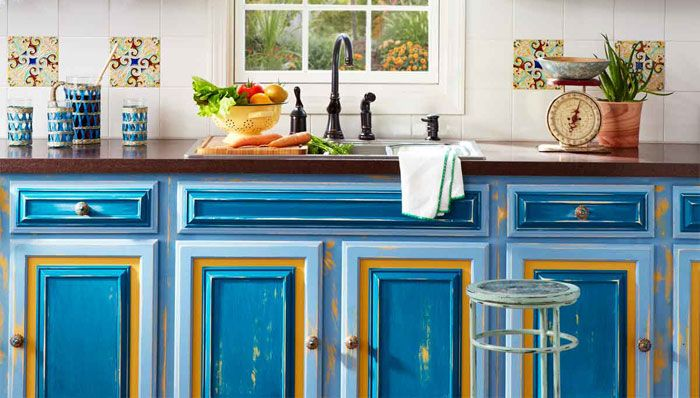 painted and distressed kitchen cabinet doors i m not brave enough rh pinterest com