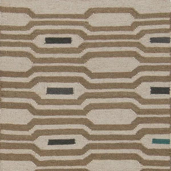 Litchfield Geometric Handwoven Wool Ivory Area Rug Area Rugs Rugs Contemporary Area Rugs