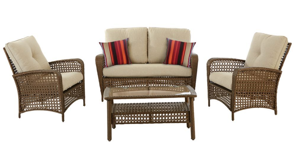 4Piece Delaronde Patio Conversation Set Conversation