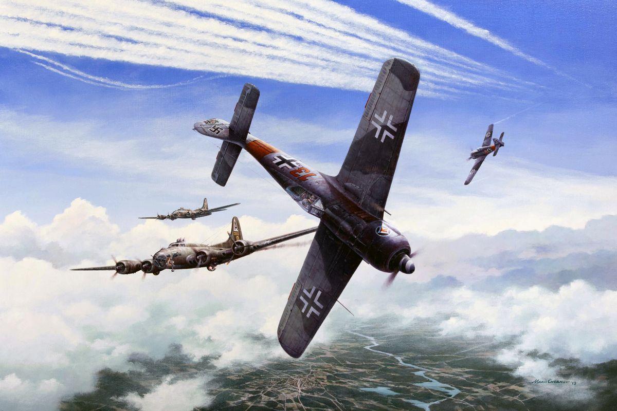 Heinz Bar's Fw 190 Red 13