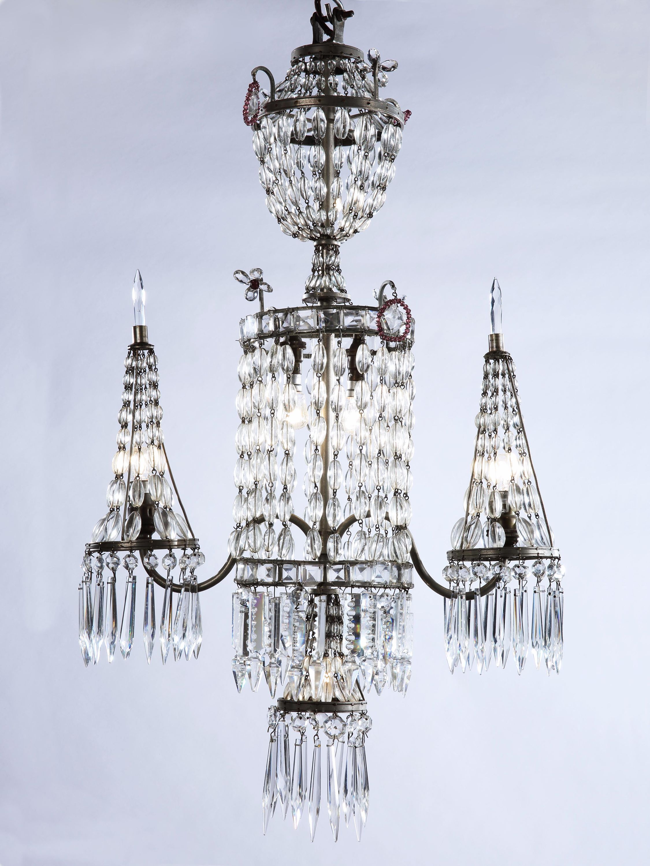 A small twin branch cut glass and silvered bronze chandelier rose a small twin branch cut glass and silvered bronze chandelier rose uniacke mozeypictures Image collections