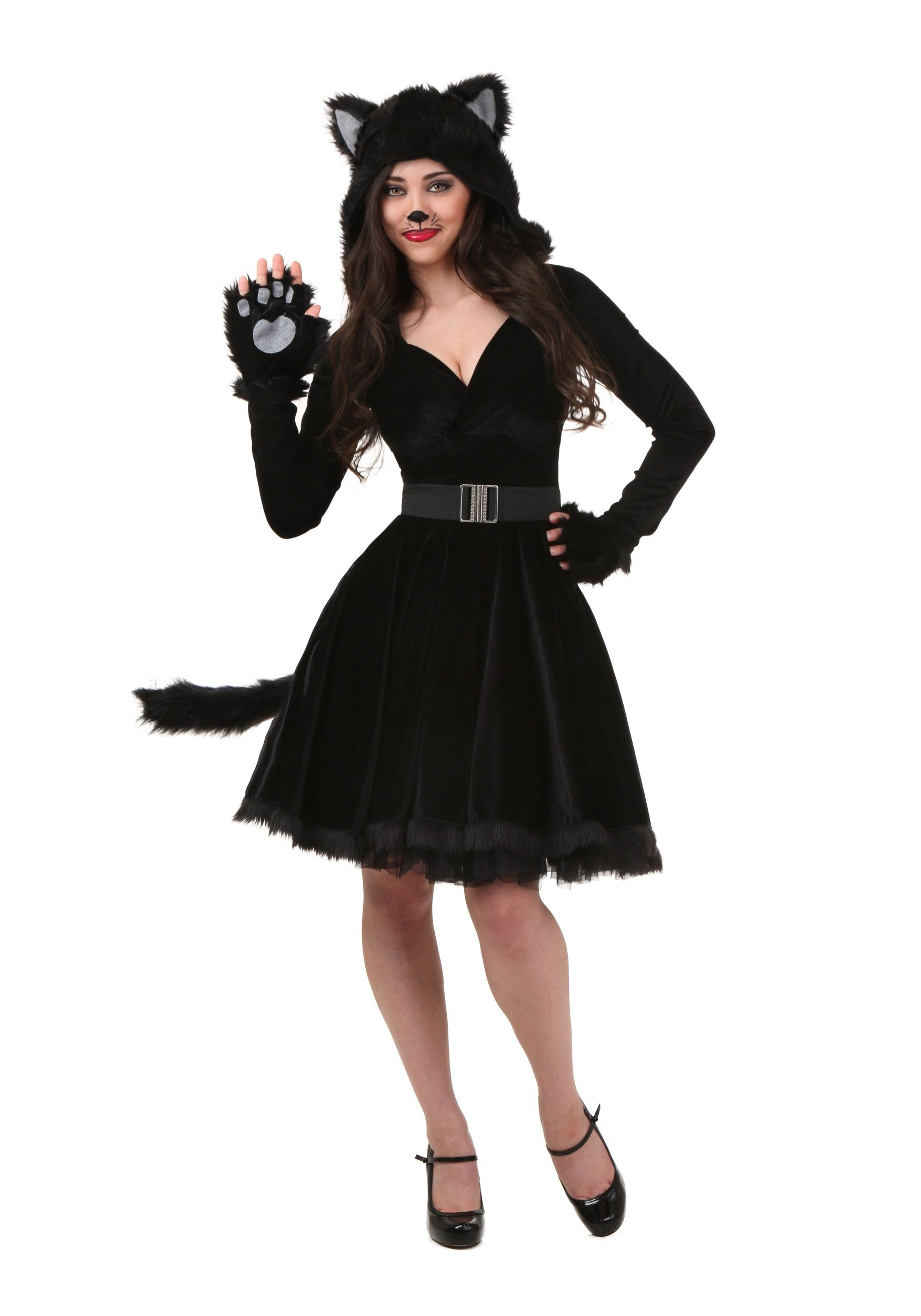 Plus Size Women's Black Cat Costume Trajes de gato