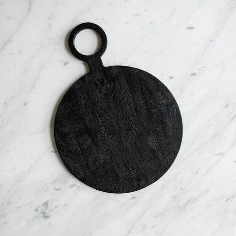 Brushed Wood Round Board (With images) Black serving