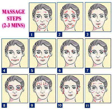 Facial massage steps skincare make up nails pinterest facial massage steps solutioingenieria Images