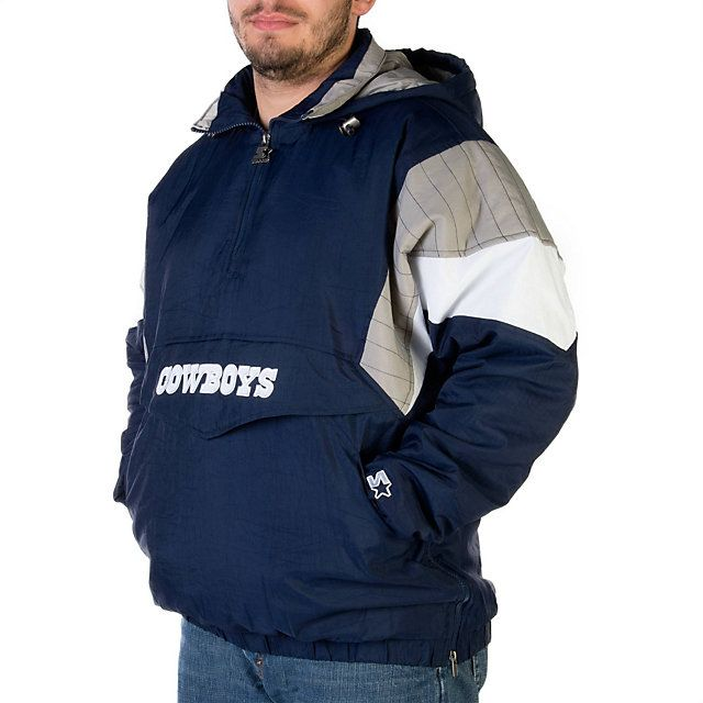new product 62058 ded5a NFL Dallas Cowboys Starter 1/2 Zip Pullover Jacket at shop ...