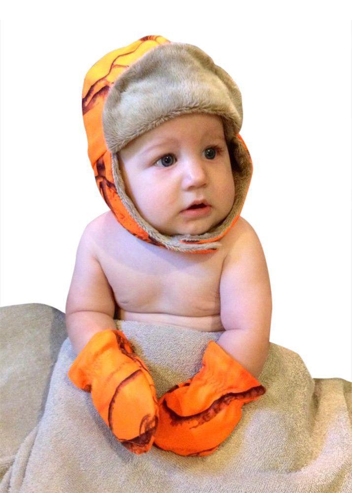 bbf03cb78ce72 Realtree Blaze Camo Baby Bomber Trapper Hat   Mittens Set – Camo Chique Mossy  Oak Baby