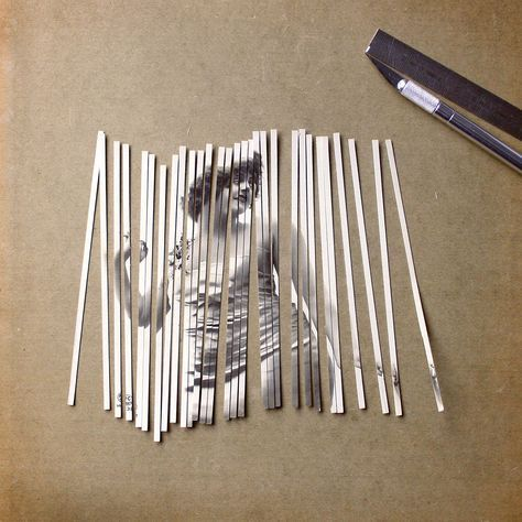 Striped Collages by Susana Blasco #collageboard