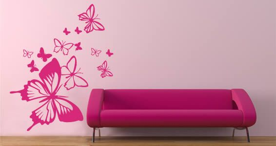 Butterflies I Want These Stickers To Put On My Daughters Bedroom - How to put a decal on my wall