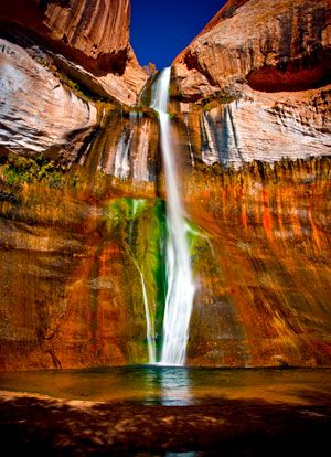 x Lower Calf Creek Falls:  Utah.  Great swimming hole. First visited in high school with Unified Studies.
