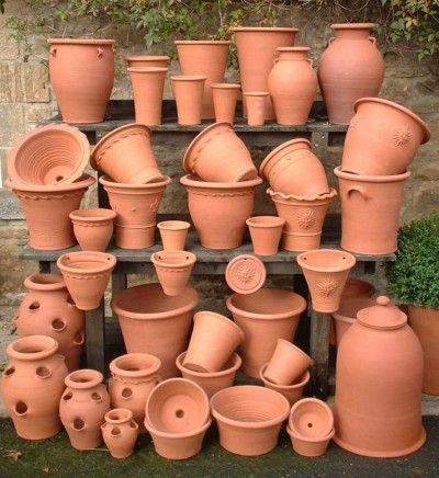 Large Hand Made Terracotta Garden Pot