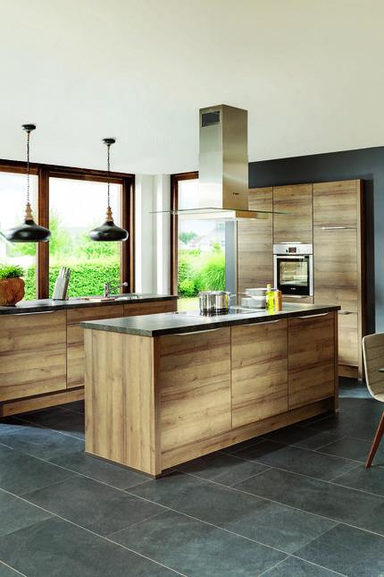 Küche Nature Designküche in Eiche Virginia Keep it flat - kche eiche