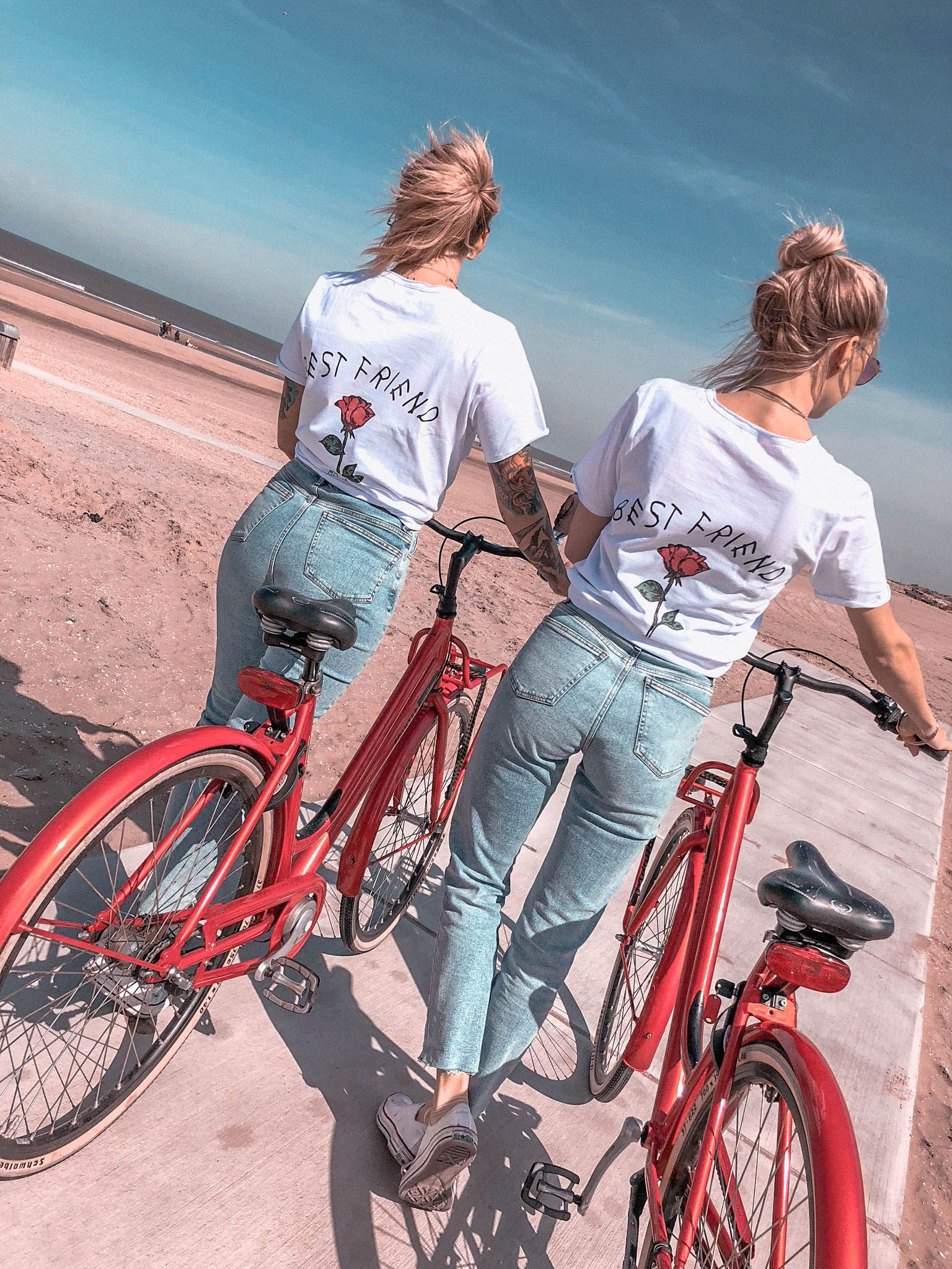 2er Set Hamburger Haenger ® Best Friend Rose T-Shirt #outfitgoals